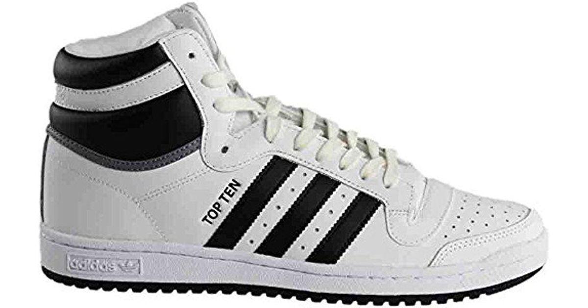 Lyst Adidas Originali Adidas Dieci Salve Moda Scarpe Da Ginnastica In Grigio.
