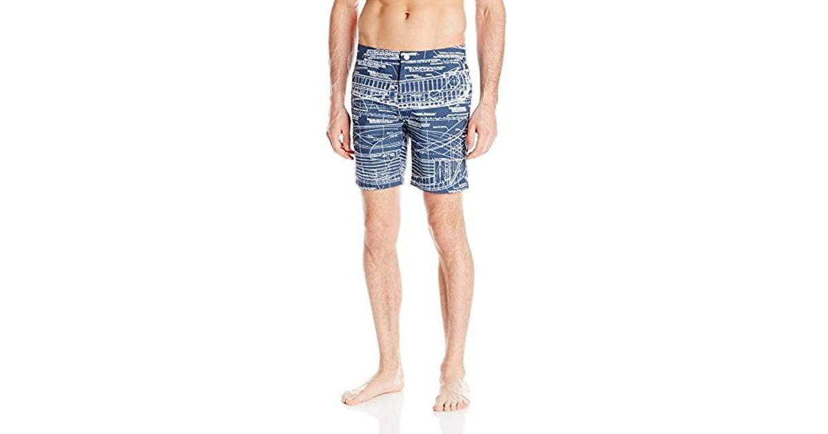 38945aab9db79 Onia Calder 7.5-inch Blueprint Swim Shorts in Blue for Men - Save 75% - Lyst