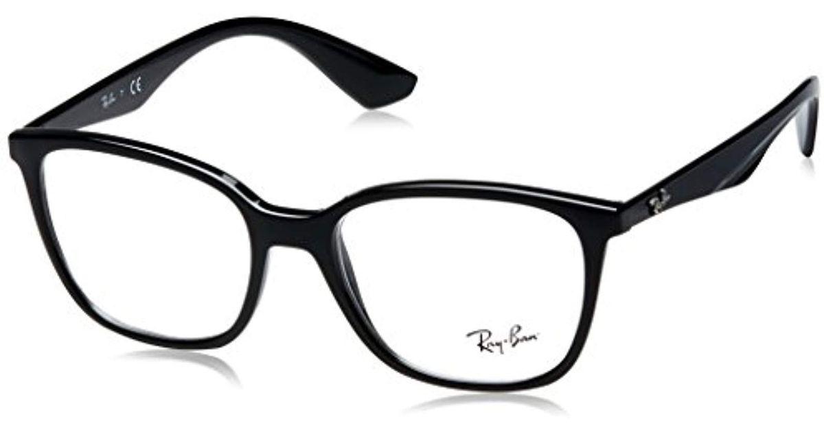 a8a44ef1dd Ray-Ban Rx7066 Glasses In Black Rx7066 2000 52 in Black - Lyst