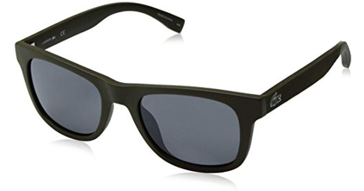 58cd2c9fb666 Lacoste Wayfarer Style Sunglasses In Matte Black L790 s 001 52 in Black -  Lyst