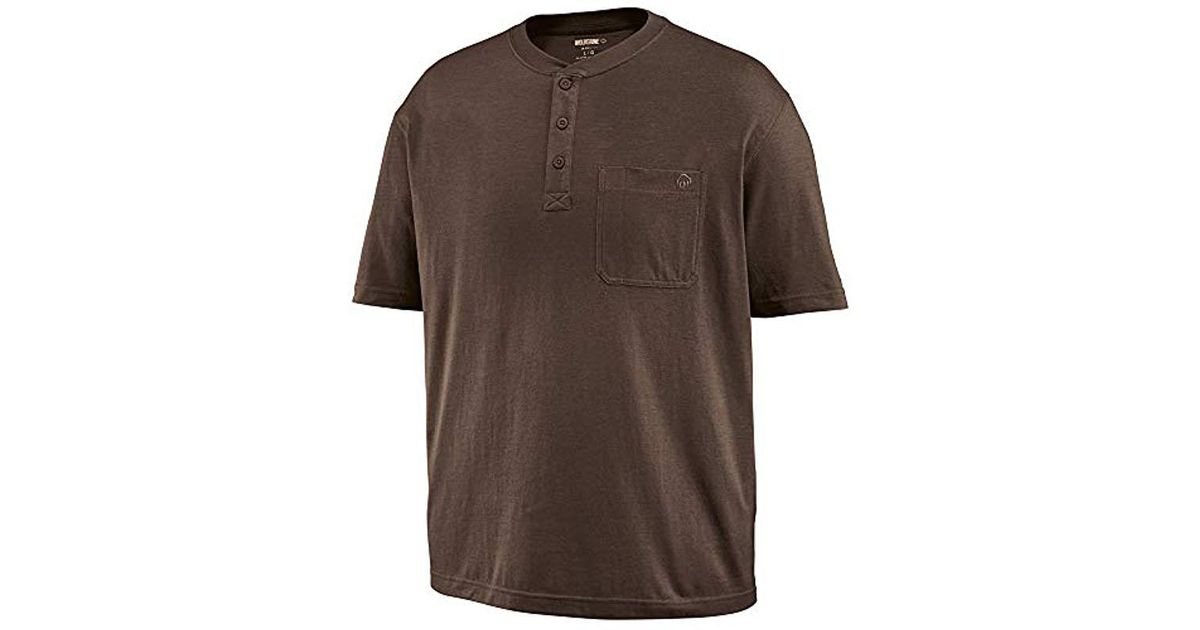 da0b8f5b4c6072 Lyst - Wolverine Knox Short Sleeve Pocketed Wicking Henley T-shirt in Brown  for Men