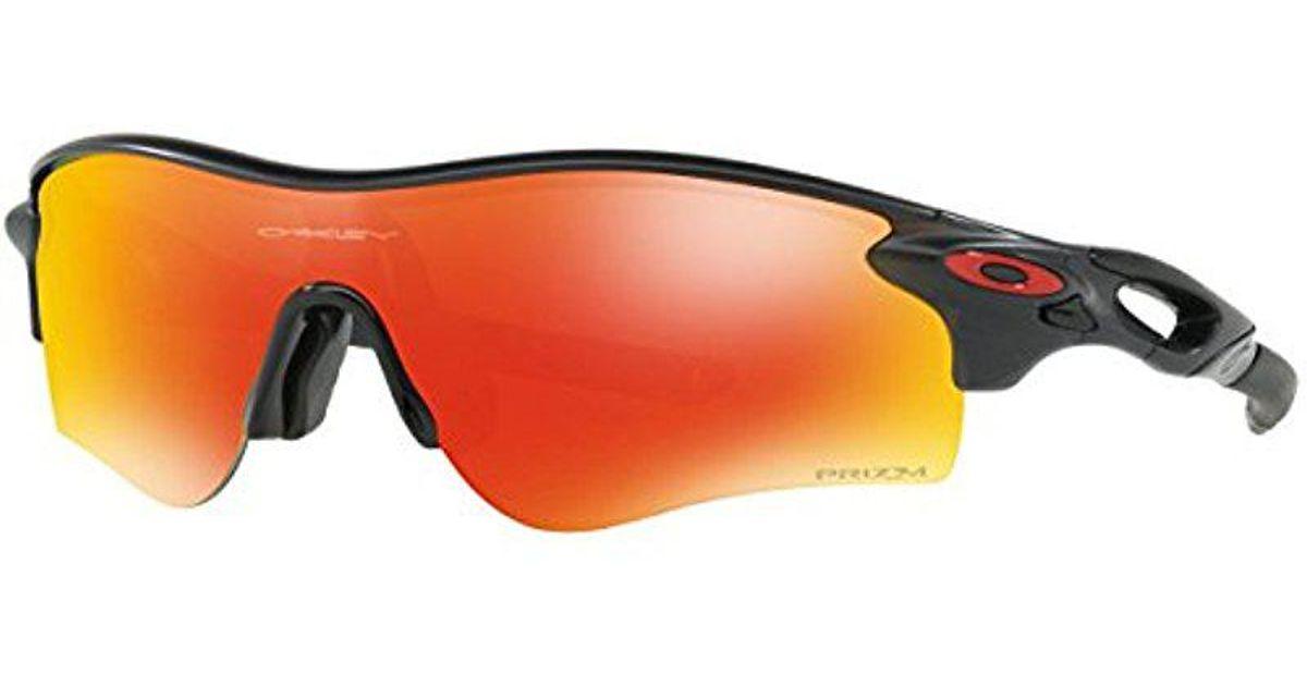 6576b36a69d Lyst - Oakley Radarlock Path (a) Iridium Rectangular Sunglasses Matte Black  Ink 0 Mm in Black for Men