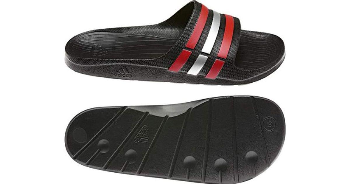 d13cc2e291c4e adidas Unisex Adult Duramo Slide Open Toe Sandals in Black for Men - Lyst
