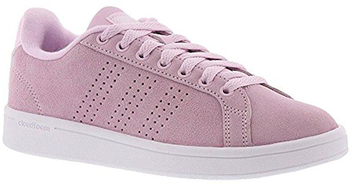 lyst adidas cloudfoam vantaggio pulito aero rosa / aero rosa / white 10