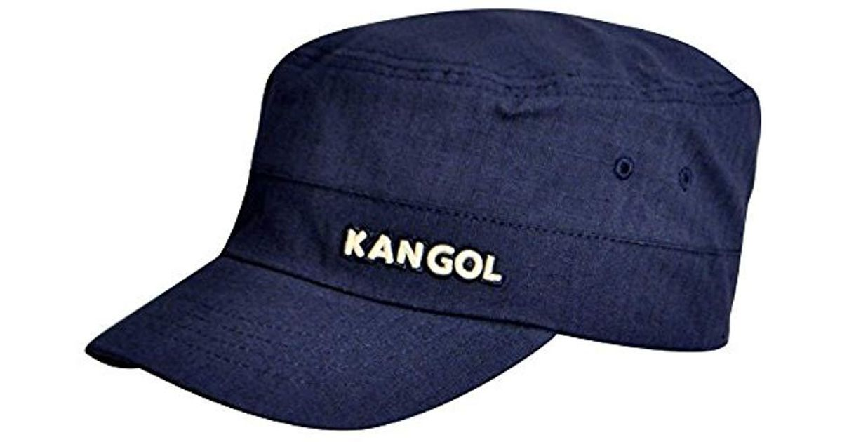 9498cabd557a38 Kangol Ripstop Army Cap in Blue for Men - Lyst