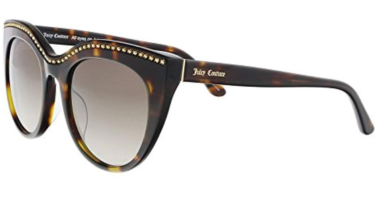 d235b0edf3 Lyst - Juicy Couture Juicy 595 s Sunglasses in Black - Save 6%