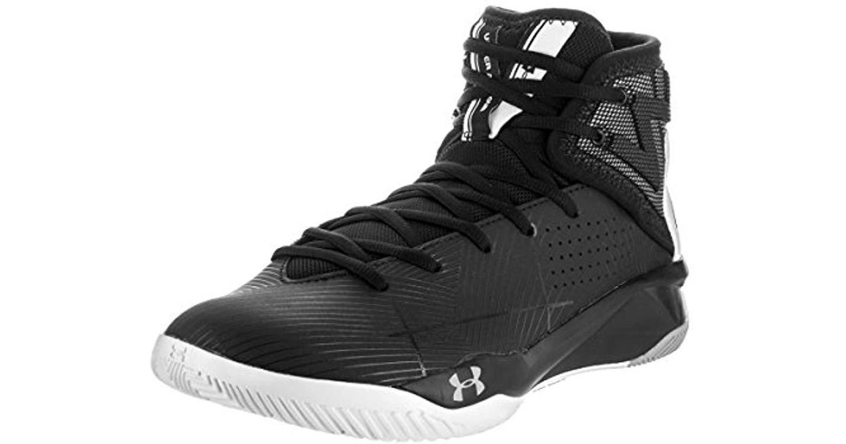 9d390a67894 Under Armour Ua Rocket 2 Basketball Shoes in Black for Men - Lyst