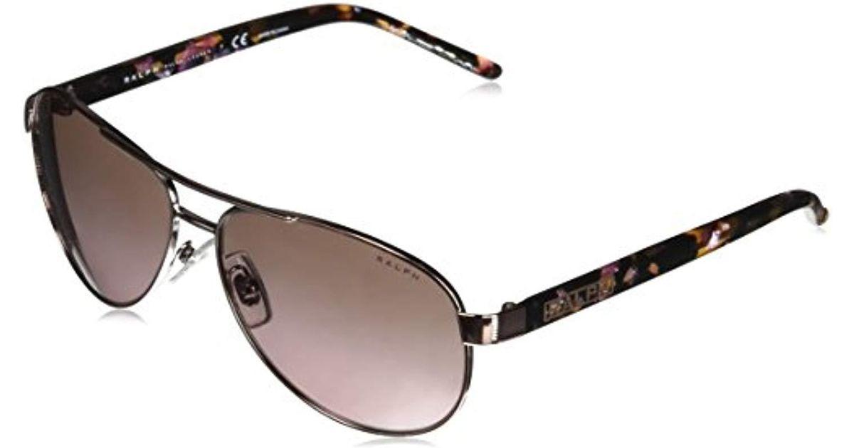 382ddfd3d646 Lyst - Ralph By Ralph Lauren Metal Woman Aviator Sunglasses, Rose Gold, 59  Mm in Metallic