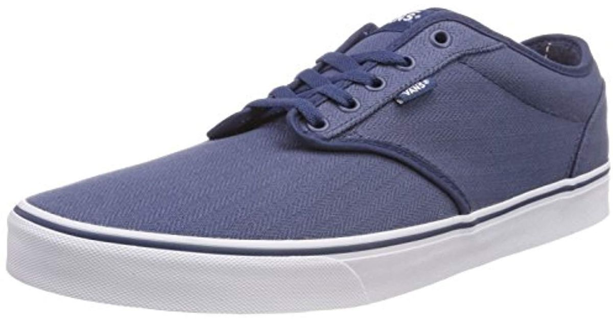 Sneakers Textile Top Vans Low Atwood Men For 's Lyst In Blue sdrthCQ