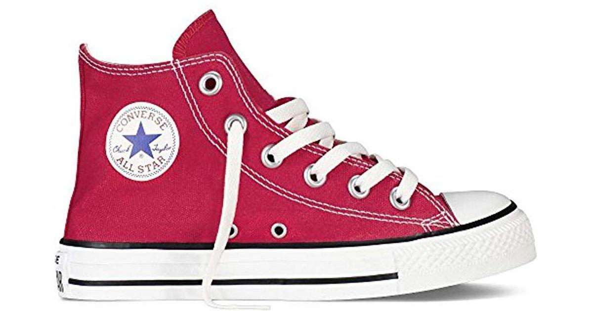 f3e90fa45c9f Converse Unisex Babies  Chuck Taylor Inft C t Allstar Hi Canvas Slippers in  Red - Lyst