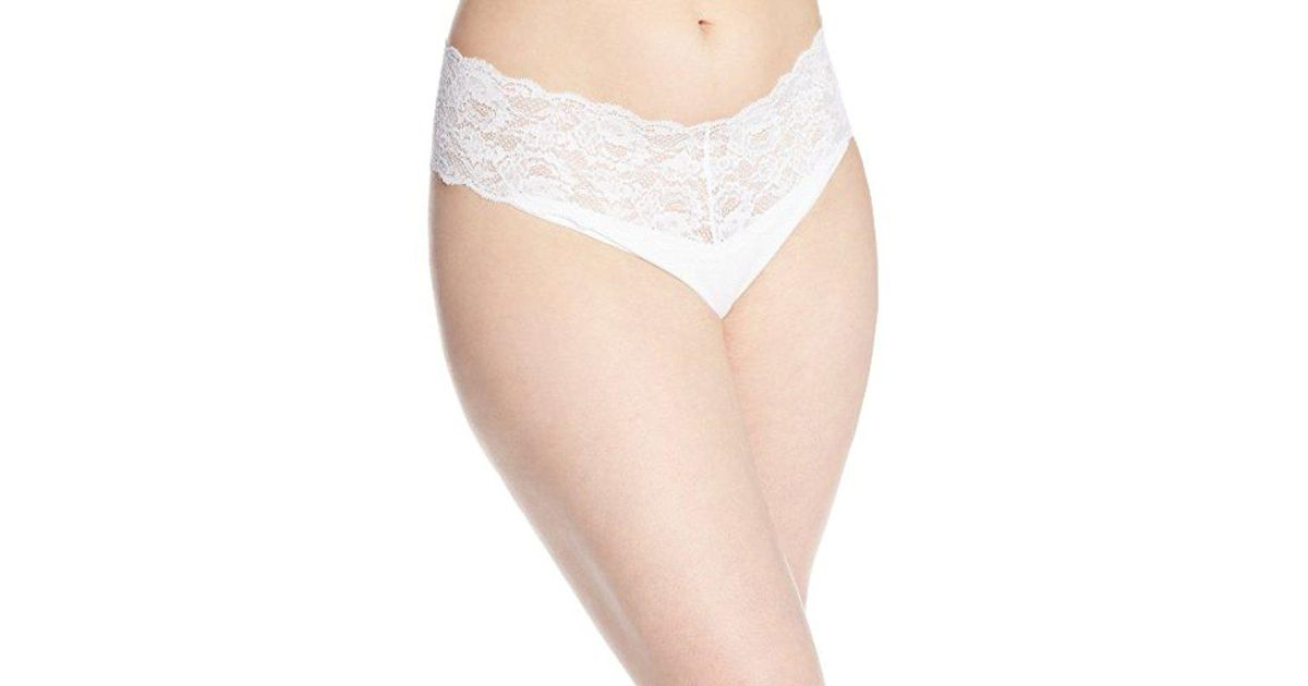 8a51dc45131 Lyst - Cosabella Plus-size Never Say Never Lovelie Thong Panty in White -  Save 26%