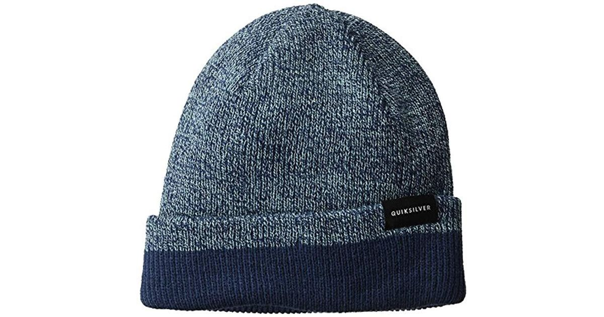 dcb6998e7fd Lyst - Quiksilver Performed Color Block 2 Reversible Beanie in Blue for Men