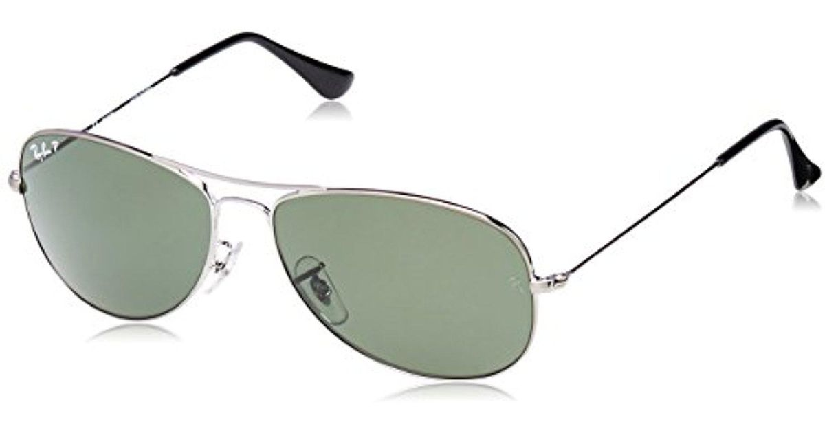 Lyst - Ray-Ban Cockpit - Gunmetal Frame Crystal Green Polarized Lenses 59mm  Polarized in Green for Men 07dfd3ba6a42