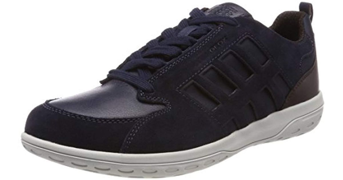 Geox U Mansel A Trainers Beige in Blue for Men - Save 9% - Lyst 0176abae857