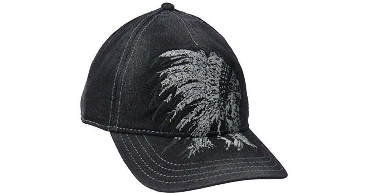 a5c6ee59395 Lyst - True Religion Chief Skull Baseball Cap in Black for Men