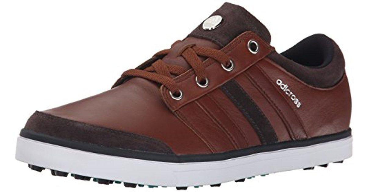 Lyst - Adidas Adicross Gripmore Golf Shoe in Brown for Men b34192809e