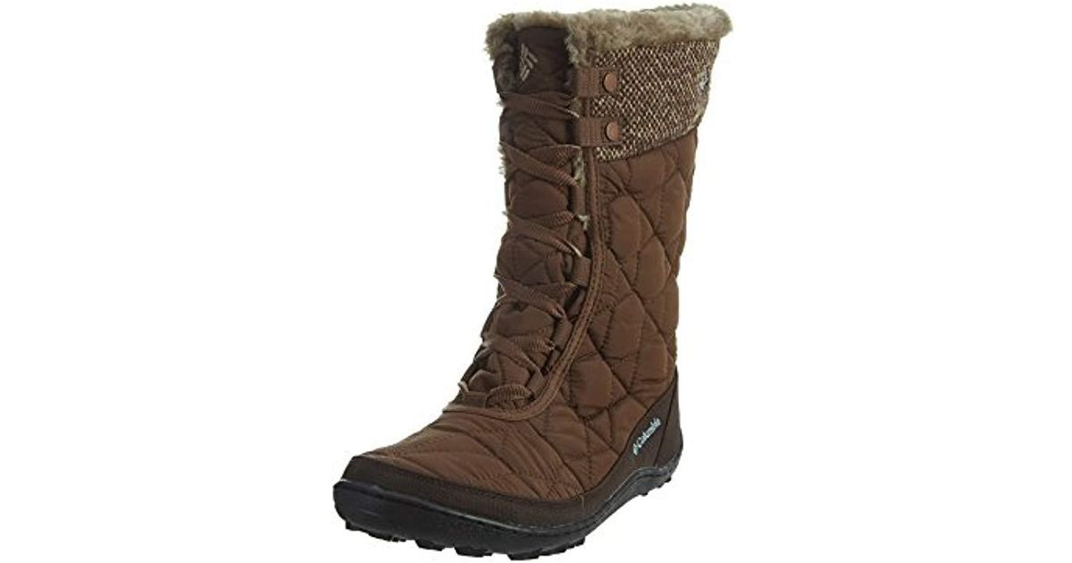 6e48f023d6da Lyst - Columbia Minx Mid Ii Omni-heat Woven Snow Boot in Brown