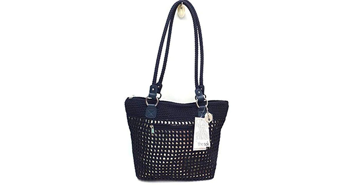 Lyst The Sak Lauren Shopper Shoulder Bag Navy With Gold In Blue