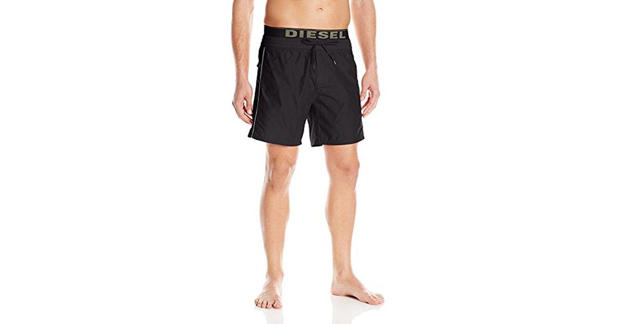7fd40fe9118ca DIESEL - Black Dolphin 4 Inch Solid Boxer Swim Short for Men - Lyst