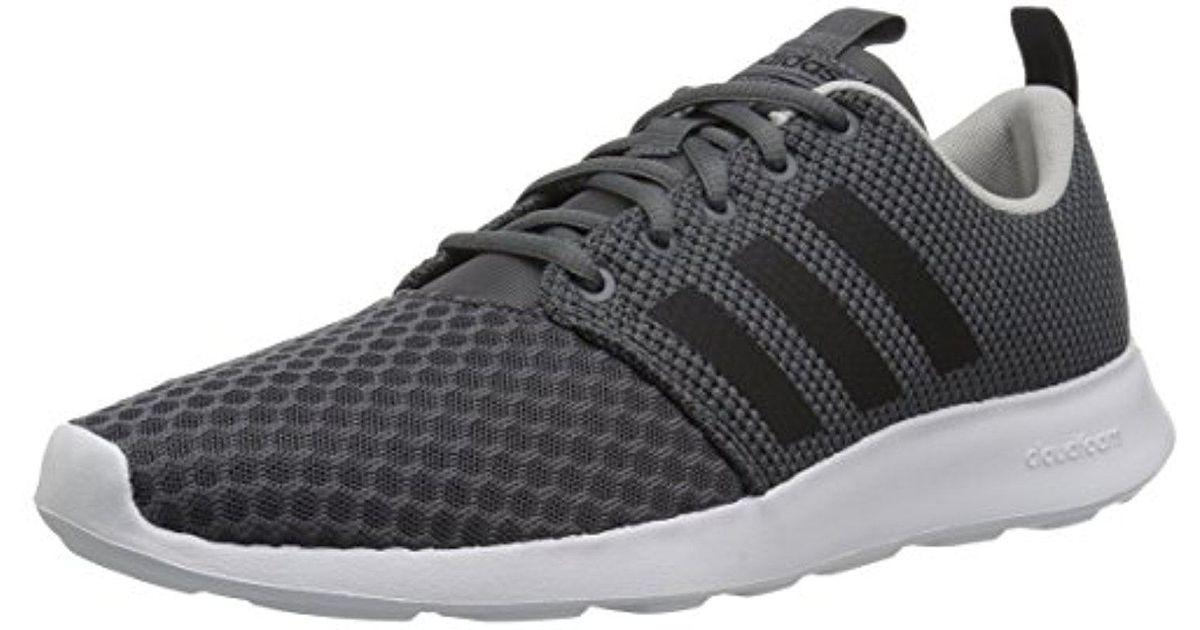 lyst adidas fc swift racer scarpe da ginnastica in grigio per gli uomini.