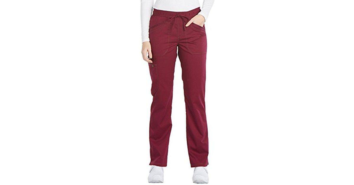 3961fcb7e4d Lyst - Dickies Essence Dk106 Mid Rise Straight Leg Drawstring Pant in Purple