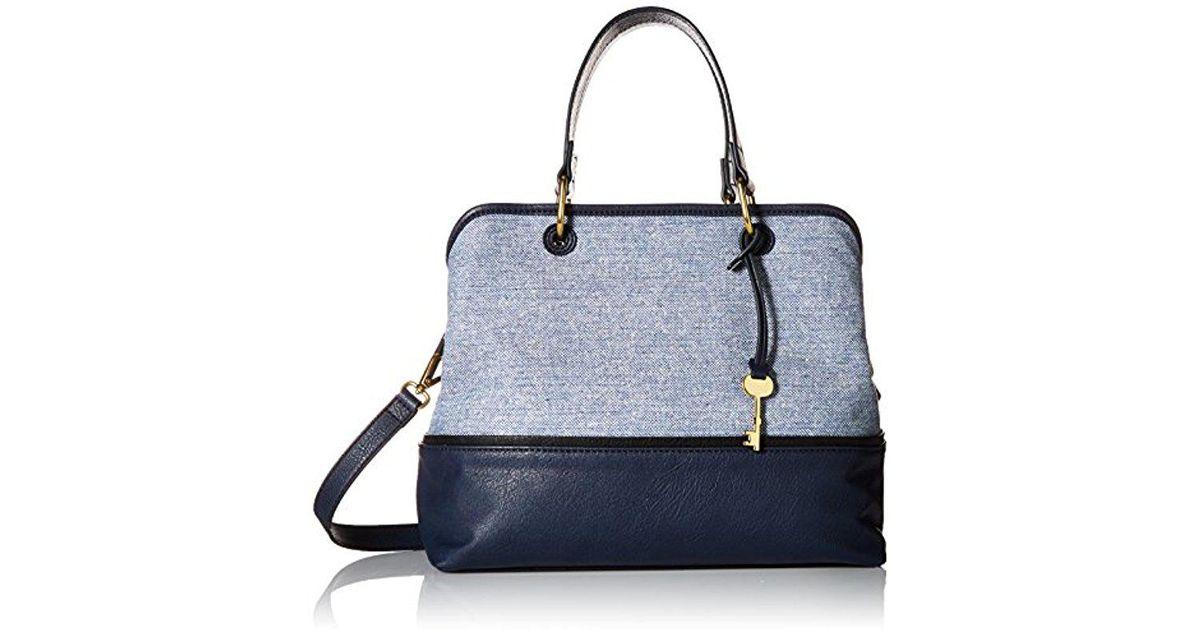 1759a8e2e984 Lyst - Fossil Lane Satchel Handbag in Blue
