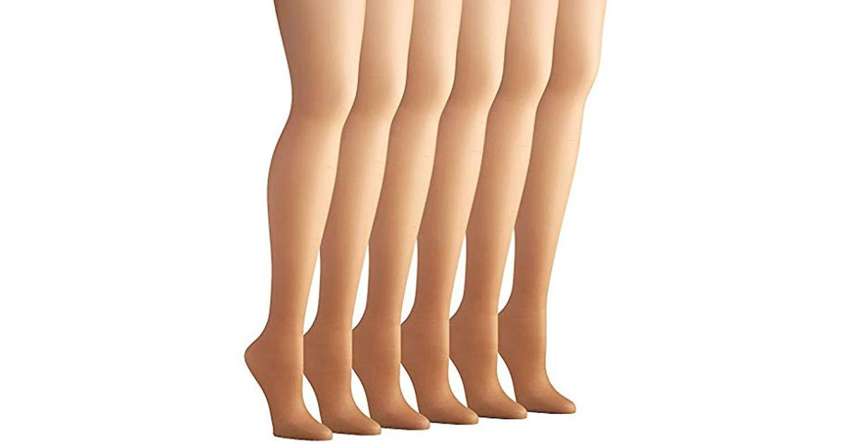 2198adcc3 Lyst - Hanes Control Top Pantyhose 6-pack