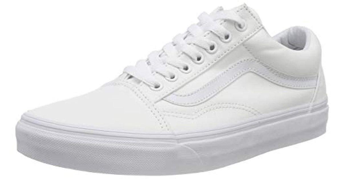 Vans Unisex Adults Old Skool Classic Skate Shoes True White 9453443d9