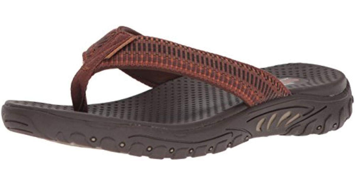 9af20ac4bfa5 Lyst - Skechers Relaxed Fit-Reggae-Belano Flip-flop in Brown for Men - Save  52%