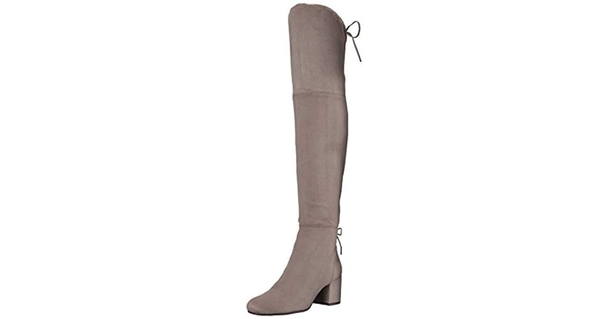 8c8fab39d5b Lyst - Circus by Sam Edelman Virginia Over The Over The Knee Boot in Gray