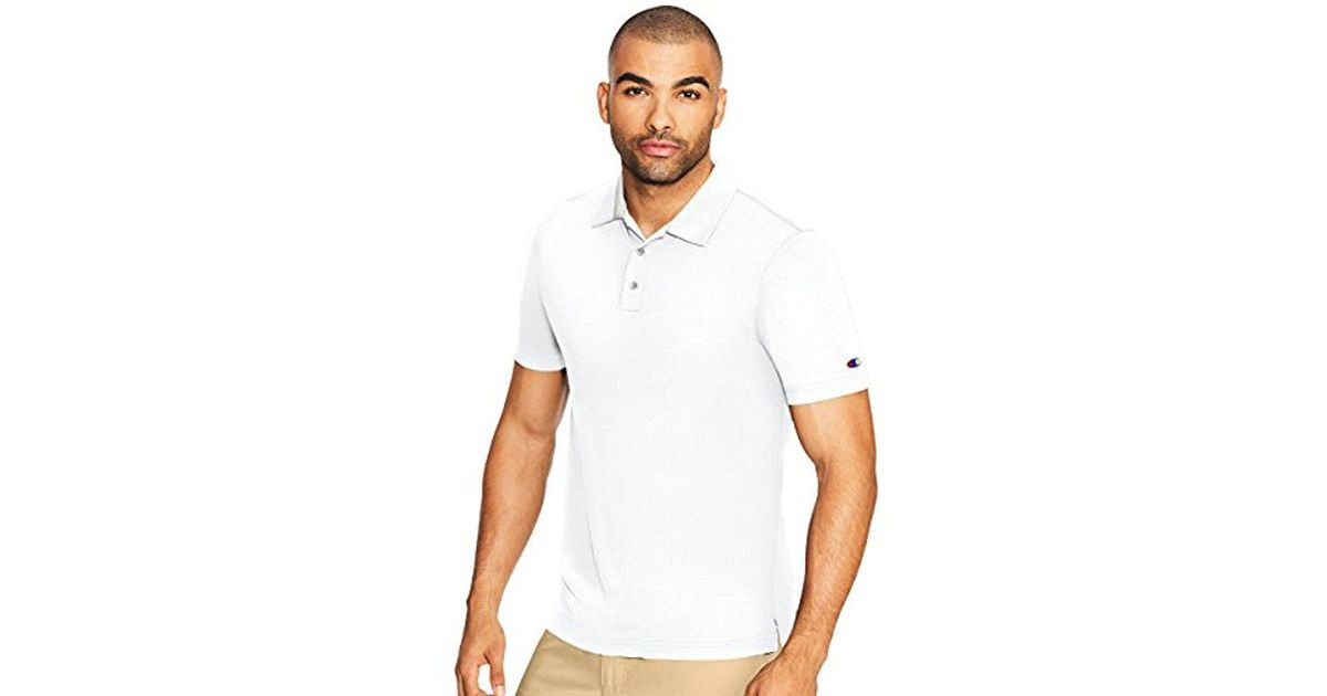 13f5ab3a6 Lyst - Champion Golf Polo in White for Men - Save 14%