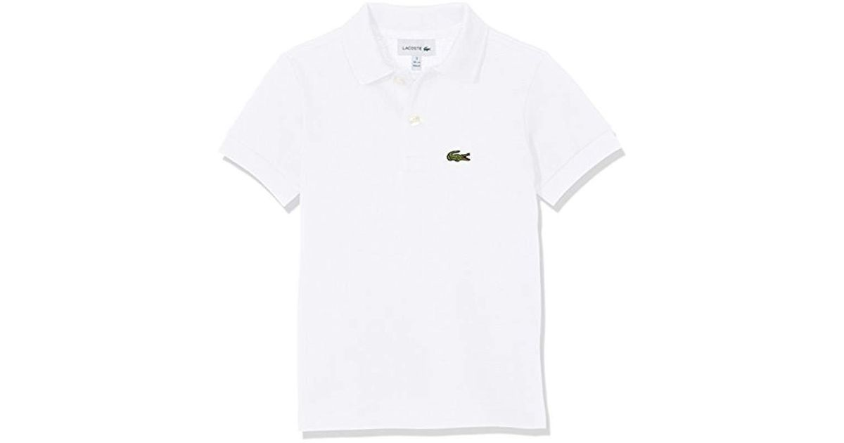 7c8568ea0900ed Lacoste Boy's Polo Shirt in White for Men - Lyst