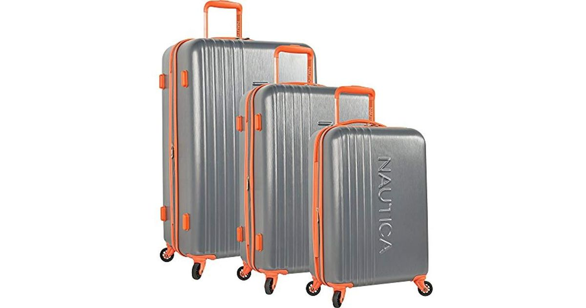 8414d2d456f9 Nautica - Gray 3 Piece Hardside Spinner Luggage Suitcase Set - Lyst