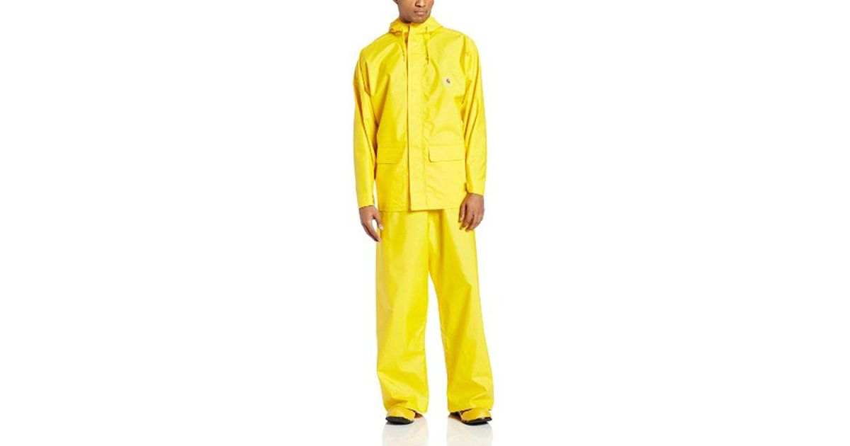 14a5a894a Carhartt Yellow Big & Tall Mayne Lightweight Pvc Coat for men