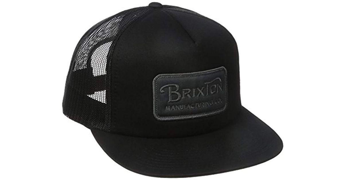 Lyst - Brixton Grade High Profile Adjustable Mesh Hat in Black for Men 8d84dc915599