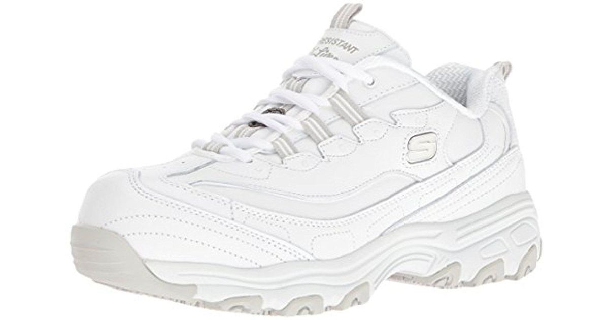 c00056c8 D'Lites Pooler Shoe Lyst Resistant Skechers In Slip For Work xwqqFU7B