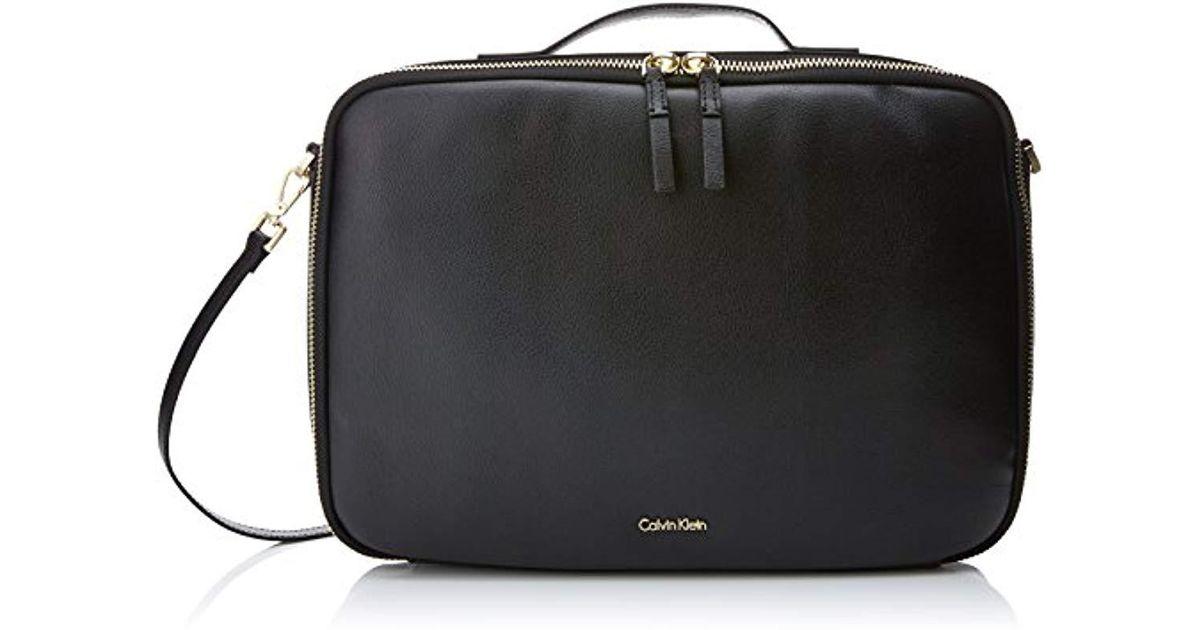 f681e6d47c Frame Laptop Bag, Sacs pour ordinateur portable femme, Noir (Black) Calvin  Klein en coloris Noir - Lyst
