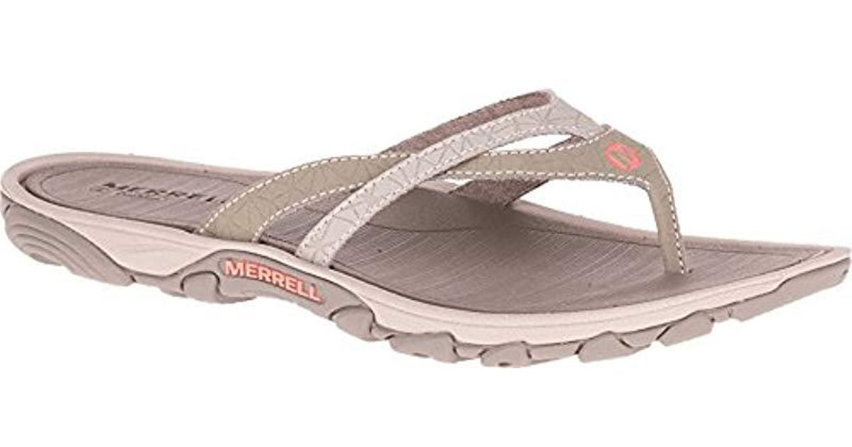 14cfa18c2a6 Lyst - Merrell Enoki Flip-flop in Brown