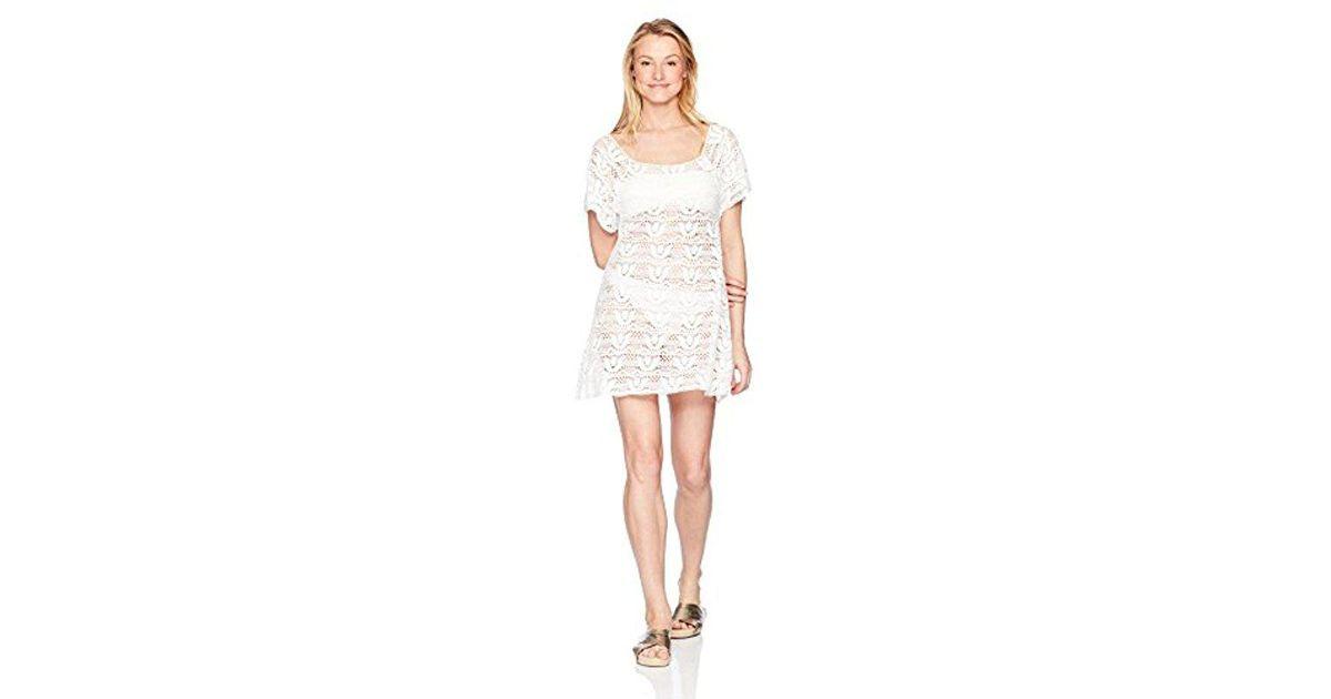 b40e2fdca5d05 Lyst - Nanette Lepore Crochet Covers Short Dress in White