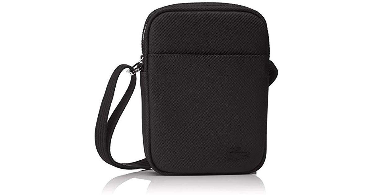 Lacoste Sac Homme Access Premium Shoulder Bag in Black for Men - Lyst 25bcd2ecf902