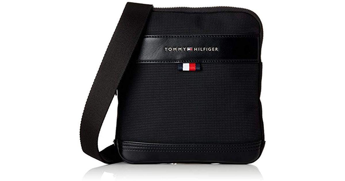 913613f283de Tommy Hilfiger Tommy Tailored Mini Crossover Messenger Bag in Black for Men  - Lyst