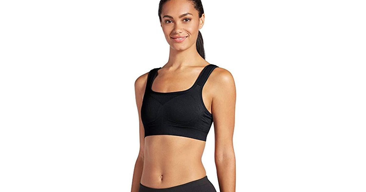 c283e8f253491 Lyst - Jockey Activewear High Impact Performance Seamless Sports Bra in  Black - Save 11%