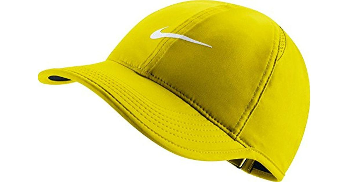 Lyst - Nike Court Aerobill Featherlight Tennis Cap in Yellow for Men 76d91371336