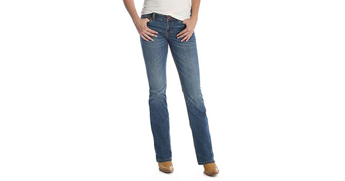 d1402b68 Wrangler Retro Sadie Low Rise Stretch Boot Cut Jean in Blue - Save 5% - Lyst