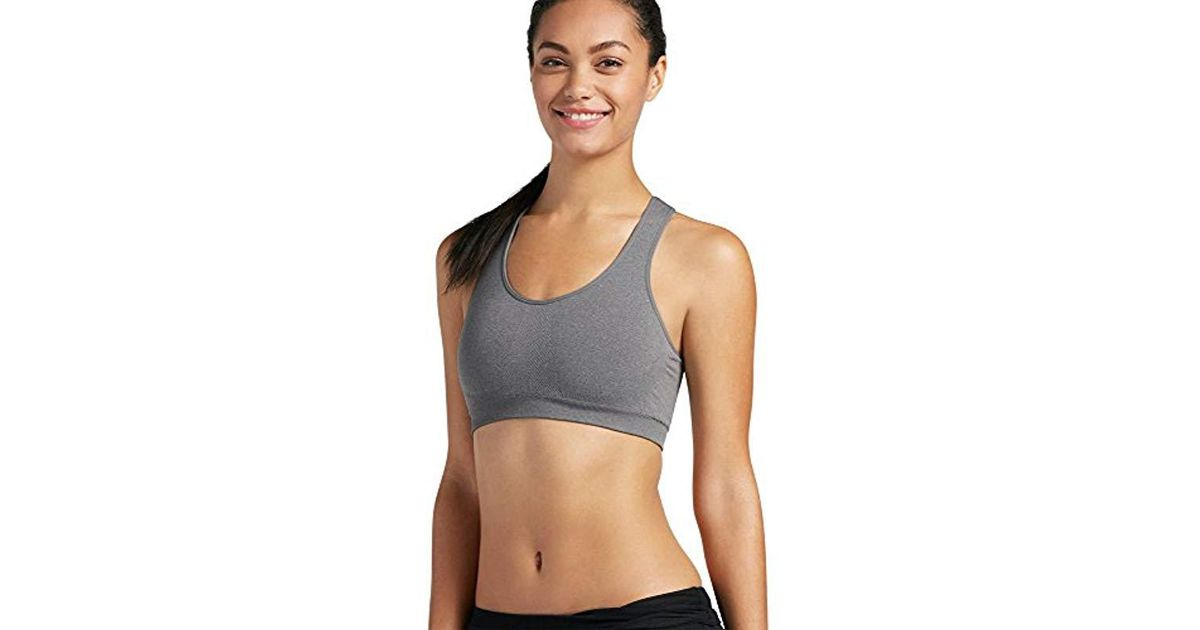 12b5f36925c2d Lyst - Jockey Removable Cup Seamless Bra in Gray