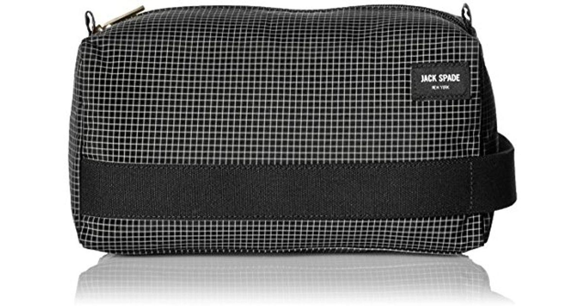 d668415814 Lyst - Jack Spade Packable Graph Check Toiletry Kit in Black for Men