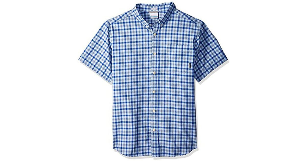 f0e9d83293a Columbia Rapid Rivers Ii Big & Tall Short Sleeve Shirt in Blue for Men -  Save 29% - Lyst