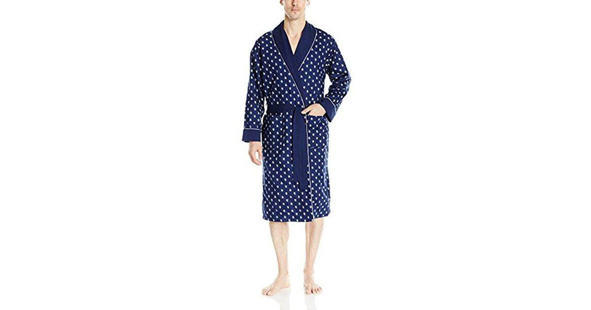 Lyst - Original Penguin Woven And French Terry Robe in Blue for Men 87d4c1667