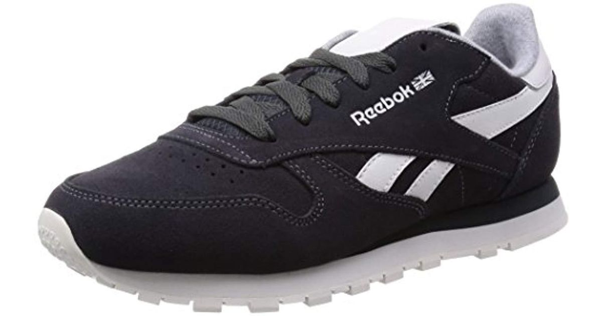 Reebok Cl Leather Suede S Running Shoes In Black Lyst 8424bac68