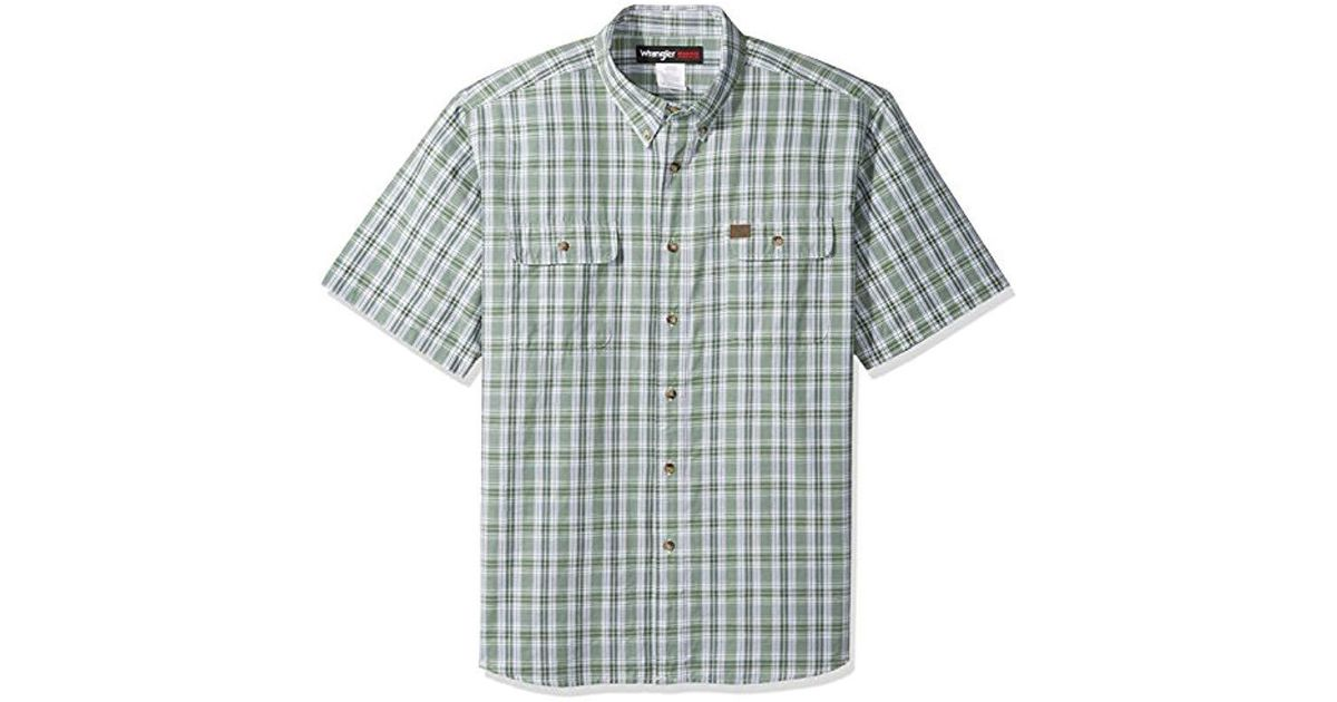 ecf3bf8adf Lyst - Wrangler Riggs Workwear Big And Tall Foreman Plaid Work Shirt in  Green for Men